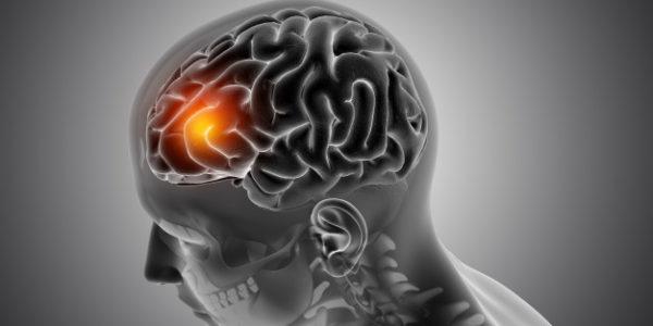 ilustración cerebro iluminado hombre.